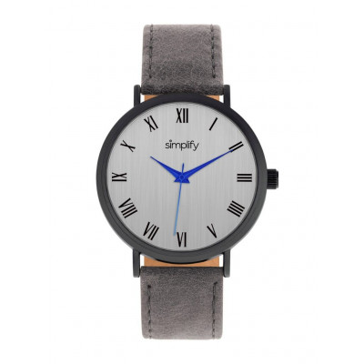 Watch The 2900 | Black & Charcoal Genuine Leather