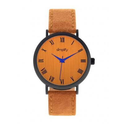 Watch The 2900 | Black & Orange Genuine Leather