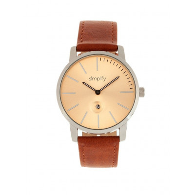 Watch The 4700 | Silver & Camel Genuine Leather