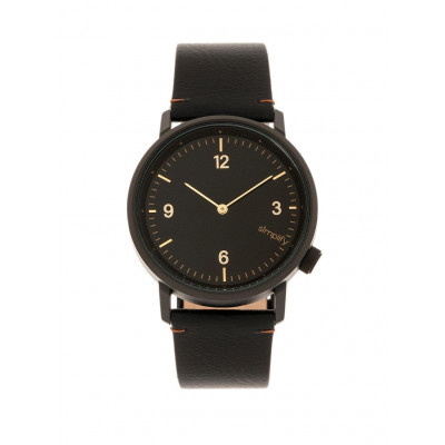 Watch The 5500 | Black & Black Genuine Leather