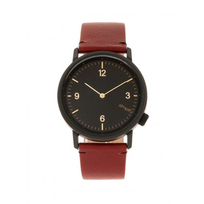 Watch The 5500 | Black & Maroon Genuine Leather