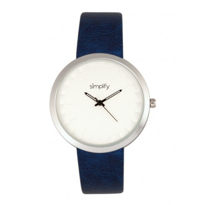 Watch The 6000 | Silver & Blue Leatherette
