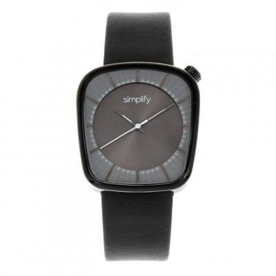 Watch The 6800 | Black & Black Genuine Leather