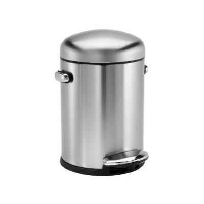 Treteimer Retro   4,5 L   Silber