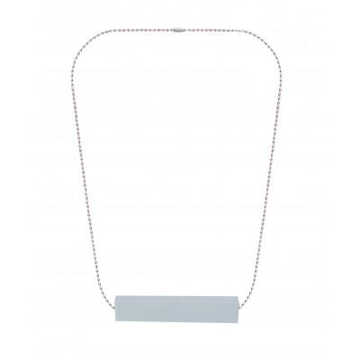 Halskette Big Block Single | Grau