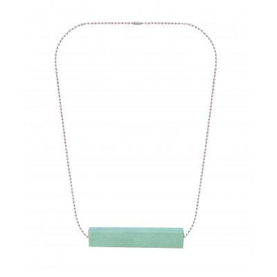 Halskette Big Block Single | Grün