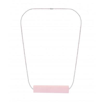 Halskette Big Block Single | Rosa