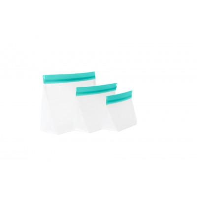 Zip Up Travel Bags Set of 3 | Aqua