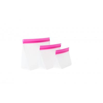 Zip Up Travel Bags Set of 3 | Pink