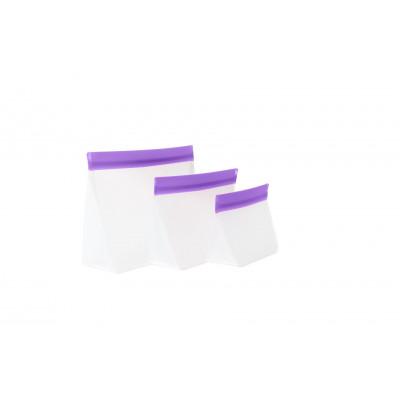 Zip Up Travel Bags Set of 3 | Purple