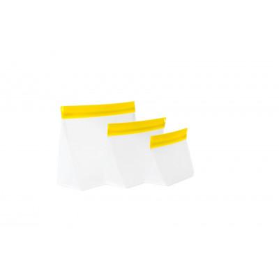 Zip Up Travel Bags Set of 3 | Yellow