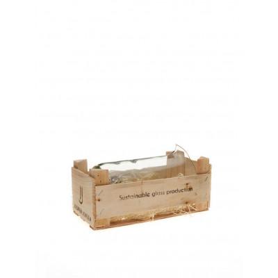 Holzkiste | 1 großer Krug | Transparent