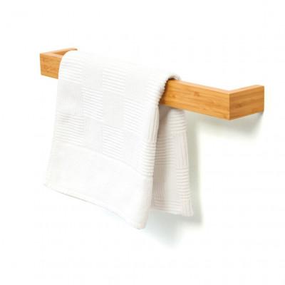 Einzelner Handtuchhalter 60 cm | Bambus
