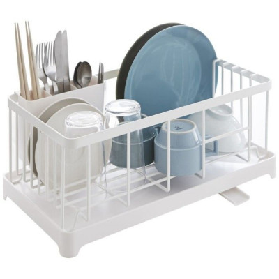 Sink Drainer Wire Basket Tower | White