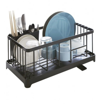 Sink Drainer Wire Basket Tower | Black