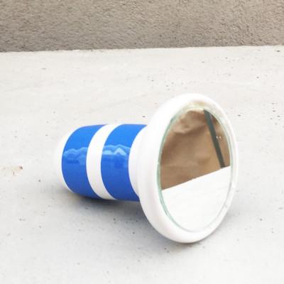 SIRI Ceramic Mirror 38 tall | Blue