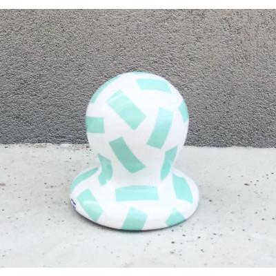 SIRI Ceramic Mirror 37 round | Turquoise