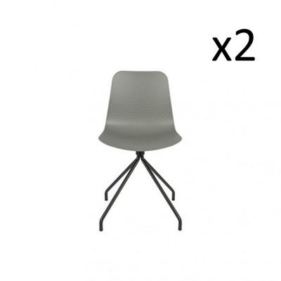 2er Set Esszimmerstühle Sis | Grau