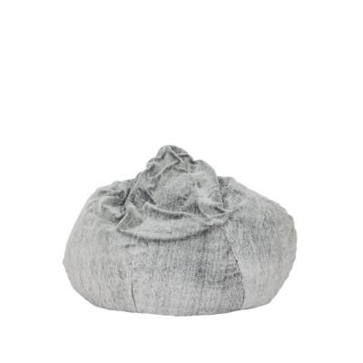 Sitzsack Samtoptik   Grau