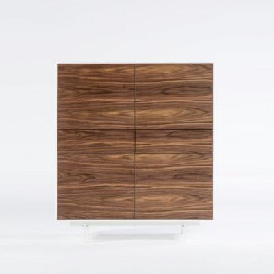 4 Türen und 2 Schubladenschränke Siviglia   Nussbaum dunkel und Mattweiß