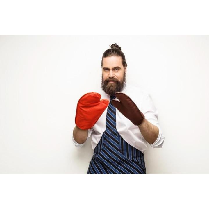 Tie&Apron Chef | Black & Blue Stripe