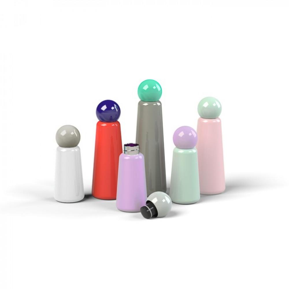 Wiederverwendbare Trinkflasche Skittle | 30 cl | Weiß & Deckel Grau
