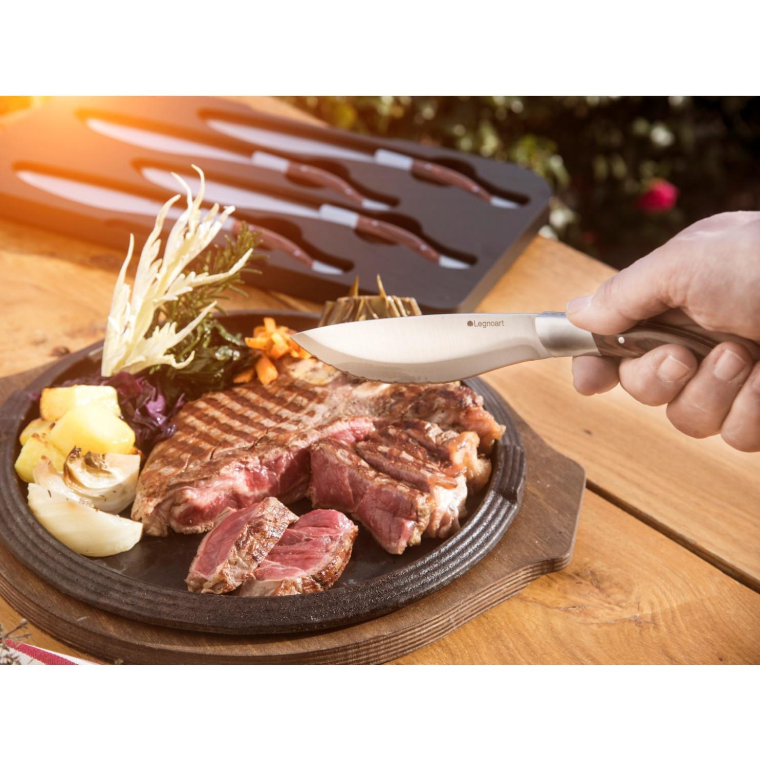 Steakmesser Angus 4er-Set   Dunkles Holz