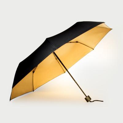 Regenschirm   Schwarz & Gold