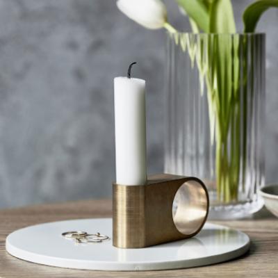 Munus Candle Holder | Brass