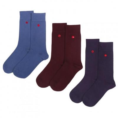 Men's Socks | Bordeaux Set of 3