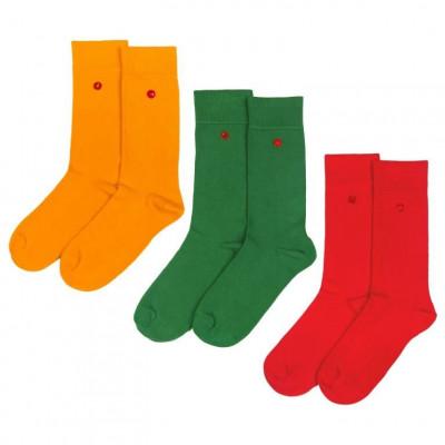 Men's Socks | Pumpkin Set of 3