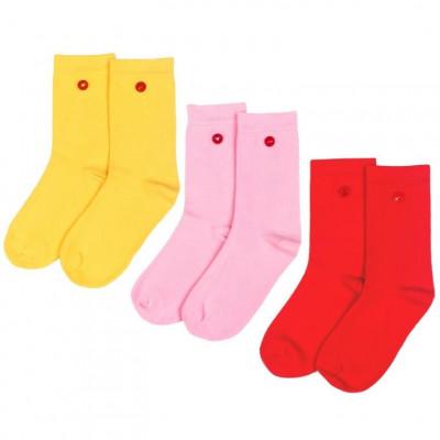 Women's Socks | Strawberry Set of 3