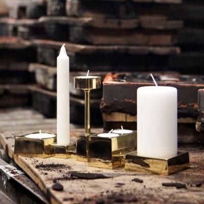 Collage-Kerzenhalter