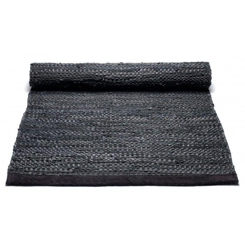 Lederteppich | Schwarz