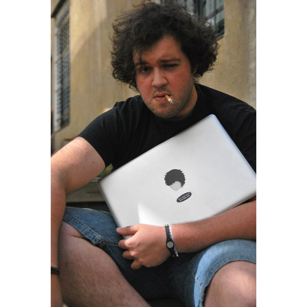 """Set of 2 Mac Book Stickers """"The Designer"""" & """"The I just slept with your girl"""""""