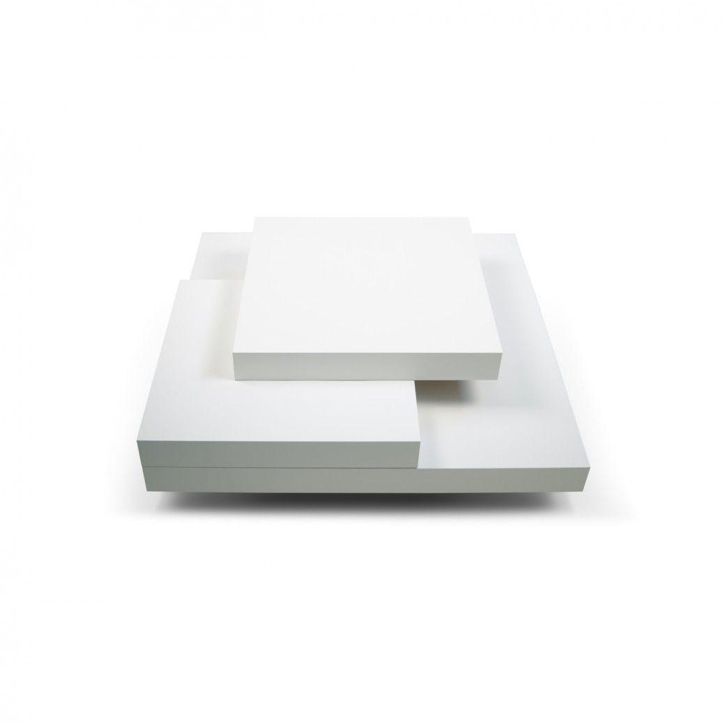 Slate 90 Coffee Table   White