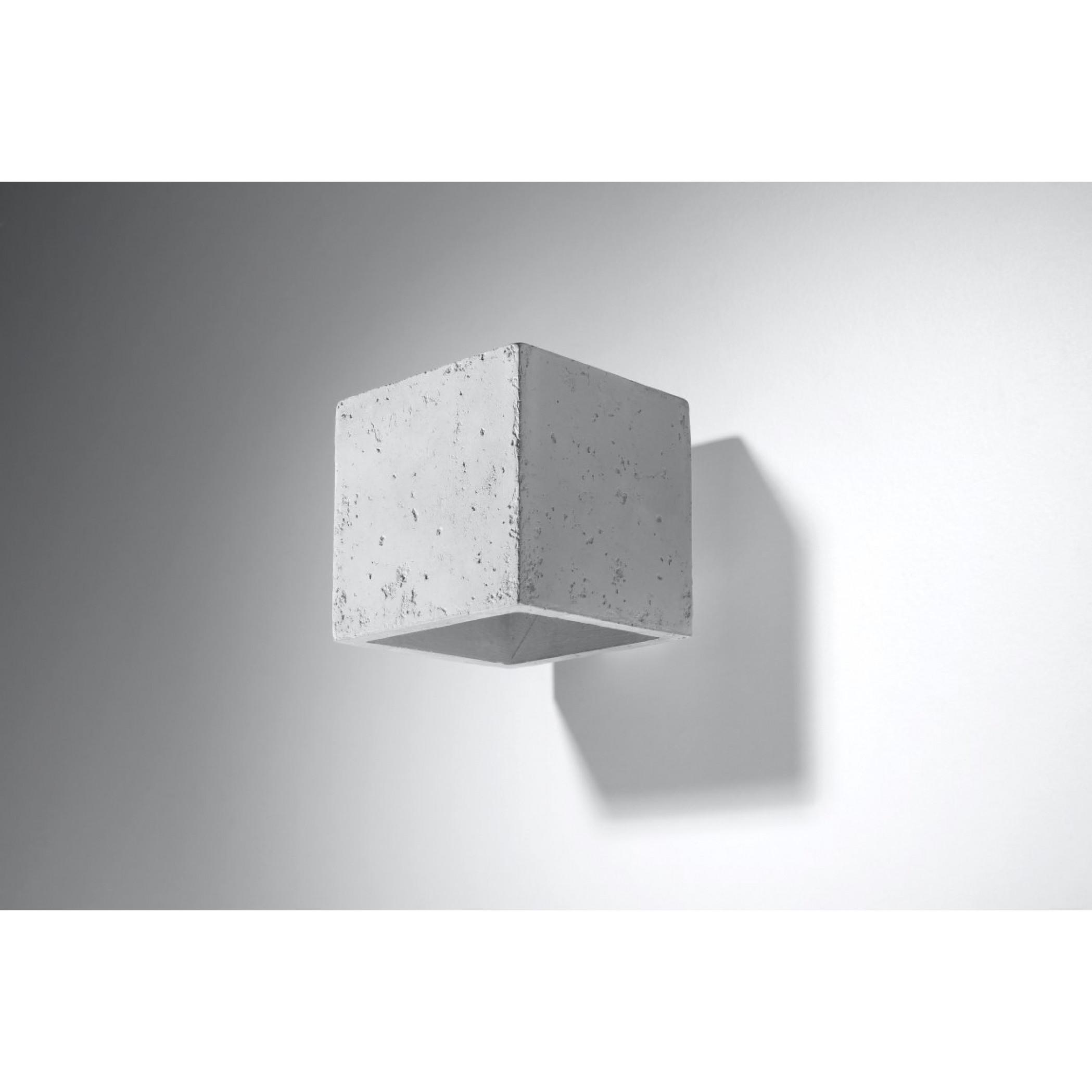 Wandleuchte Quad | Beton
