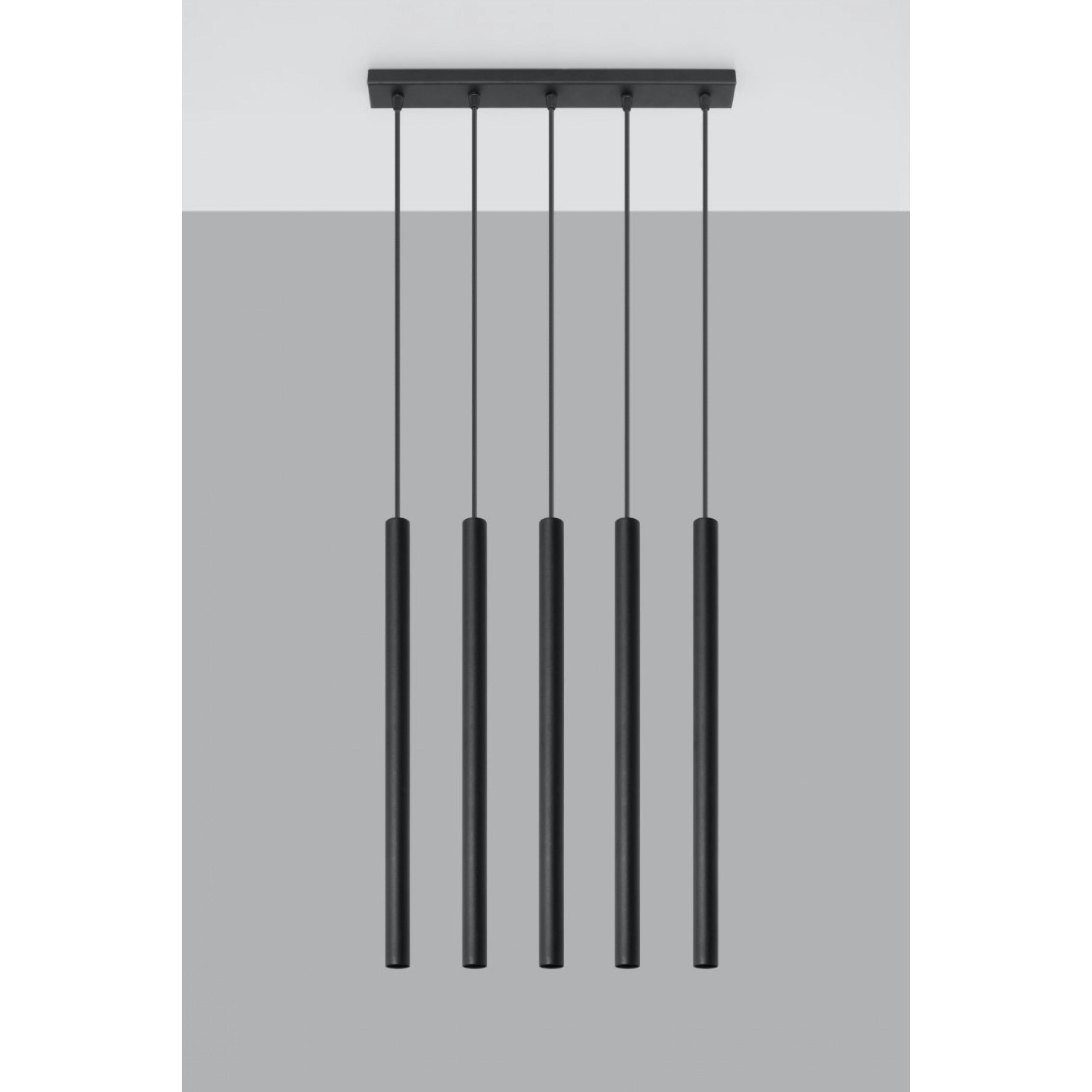 Pendelleuchte Pastello 5 | Schwarz