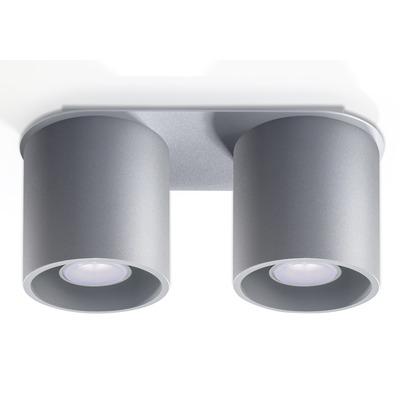 Deckenlampe Orbis 2   Grau