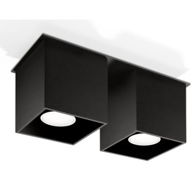 Deckenlampe Quad 2 | Schwarz