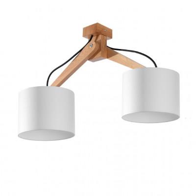 Deckenleuchte Legno 2 Lichter | Weiß