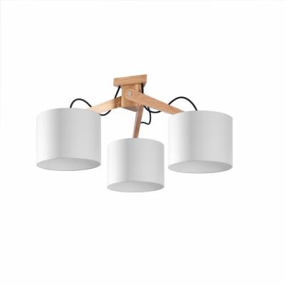 Deckenleuchte Legno 3 Lichter | Weiß
