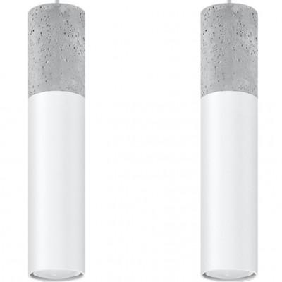 Pendelleuchte Borgio 2 Lichter | Grau - Weiß