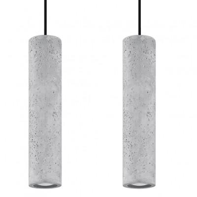 Pendelleuchte Luvo 2 Lichter | Grau - Schwarz