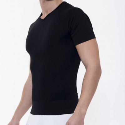 T-Shirt mit Schlankheitseffekt Männer | Schwarz
