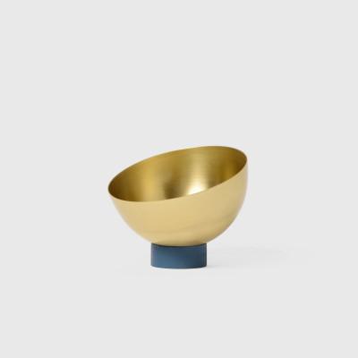 Medium Brass Bowl   Navy