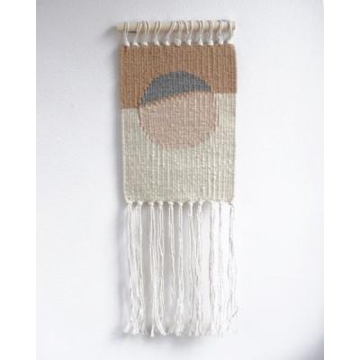 Small Sun no.1 Wall Hanger | White, Brown & Beige
