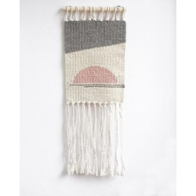 Small Sun no.4 Wall Hanger | White, Grey & Pink