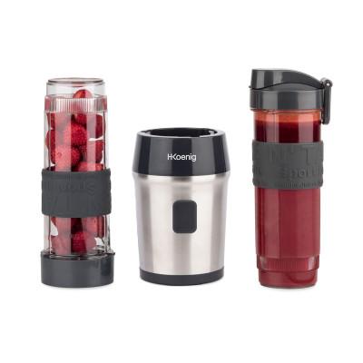 Mini-Mixer mit 2 Flaschen | Schwarz