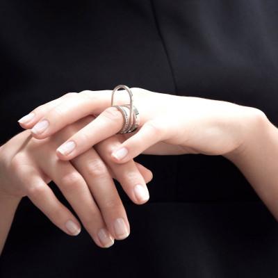 Gerahmter Ring #3 | Silber